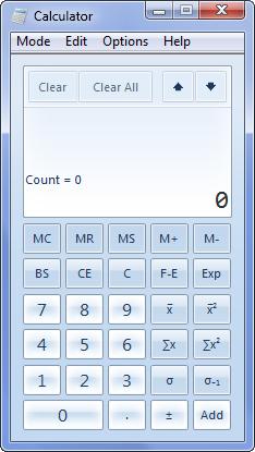 c-statisticsmode